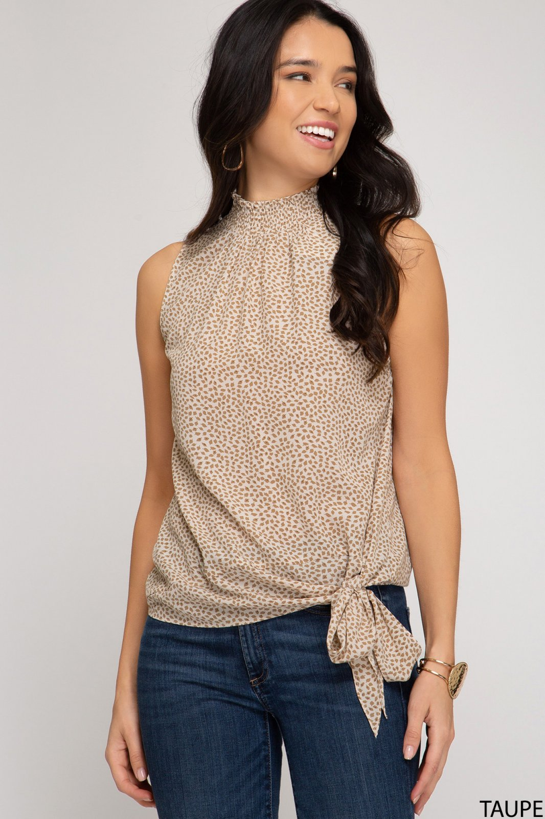 Smocked Neck Top from She & Sky