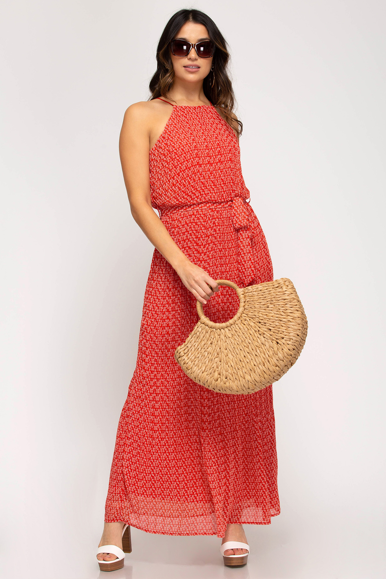 Woven Print Maxi Dress from She & Sky