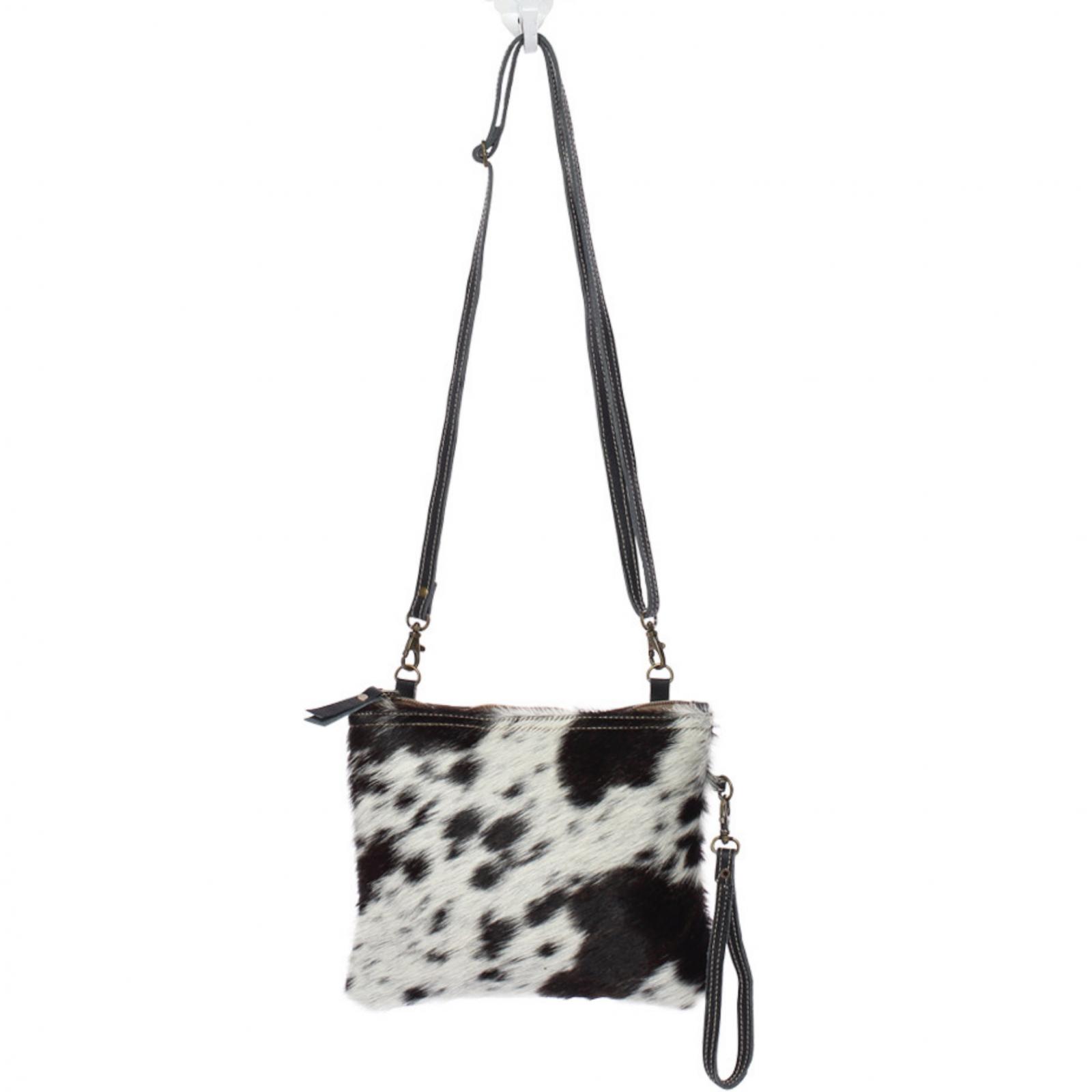 Black & White Shade Bag Crossbody/Wristlet