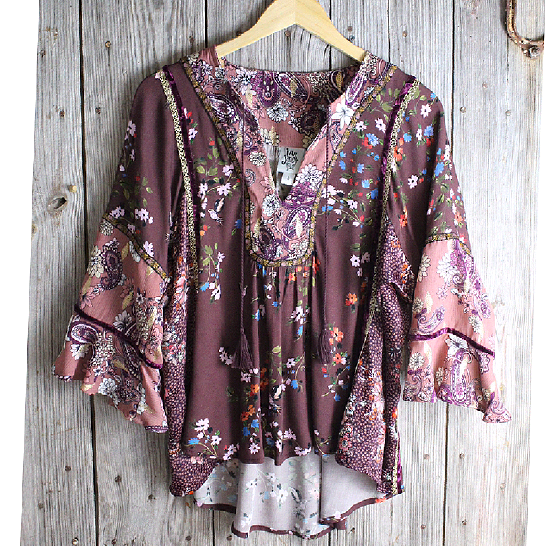 Mixed Floral Blouse from Ivy Jane