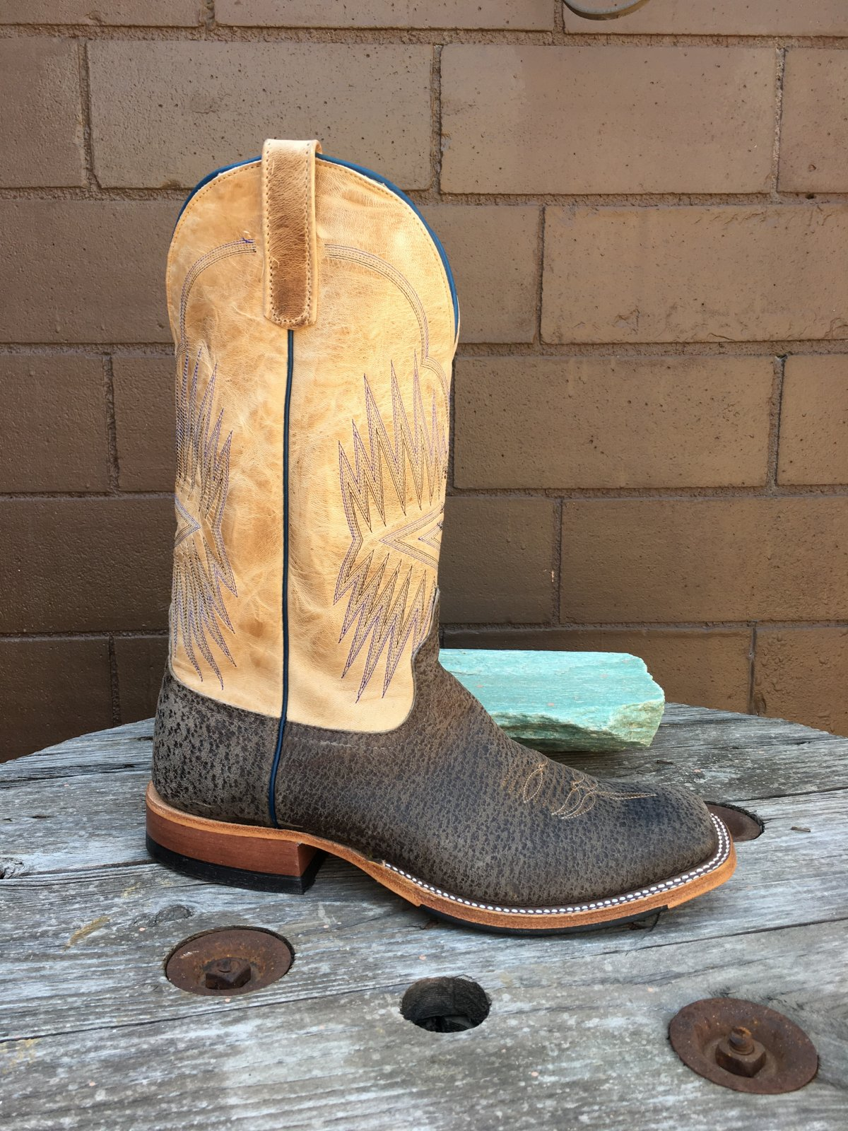 Charocal Boar with Tan Sensation Western Boots from Anderson Bean