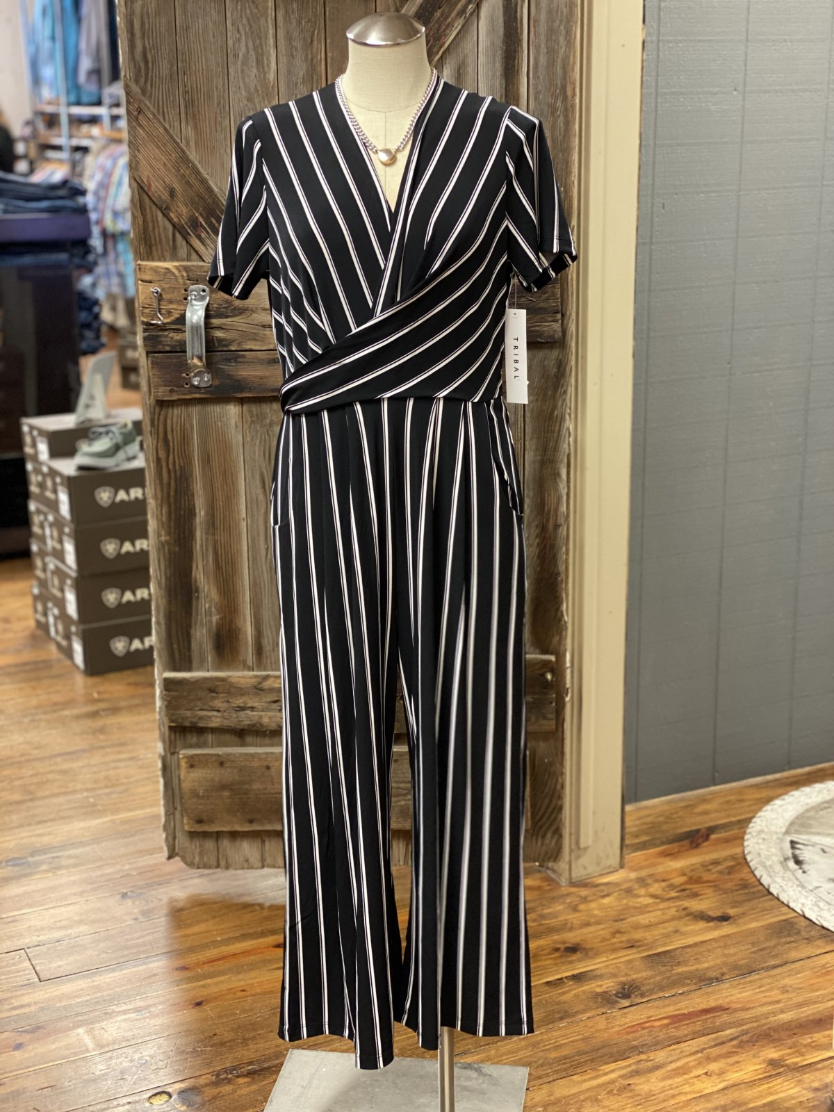 Faux Wrap Jumpsuit from Tribal