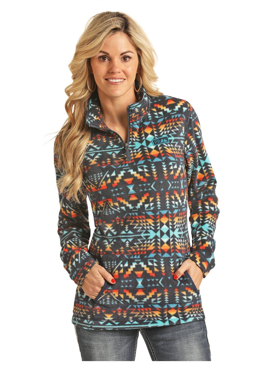 Aztec Fleece 1/4 Zip Pullover from Powder River