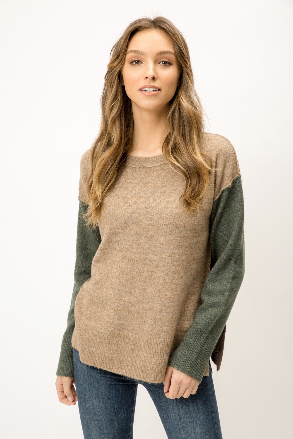 Color Block Sweater from Mystree