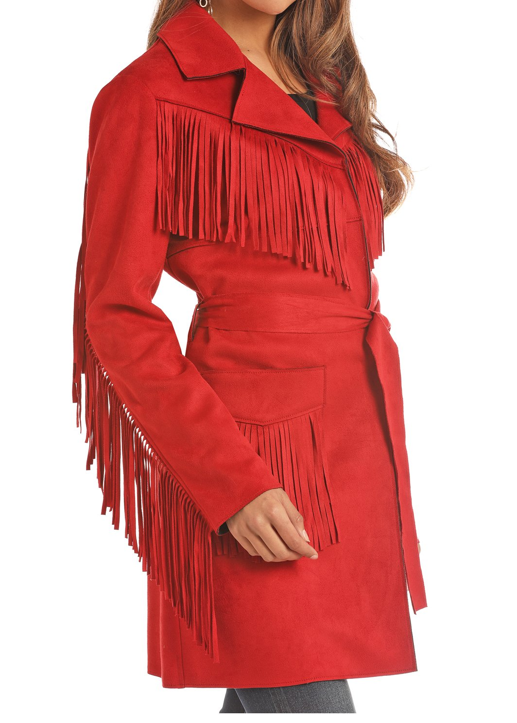Fringe Faux Suede Jacket from Powder River