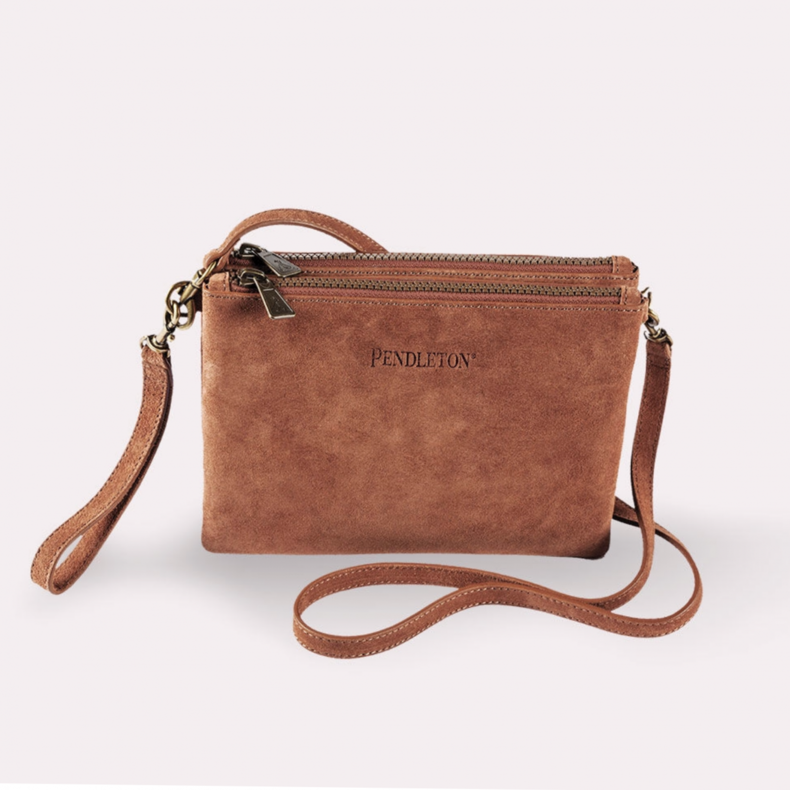 Brown Suede Crossbody from Pendleton