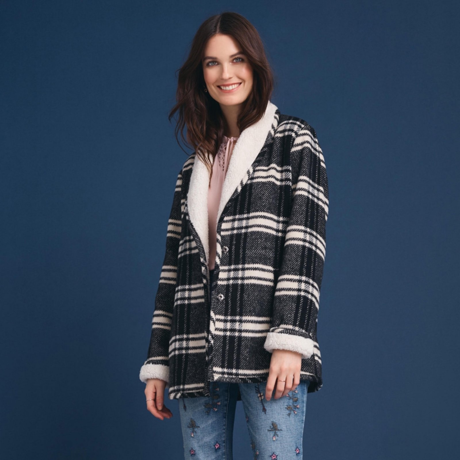 Black & White Plaid Jacket from Tribal