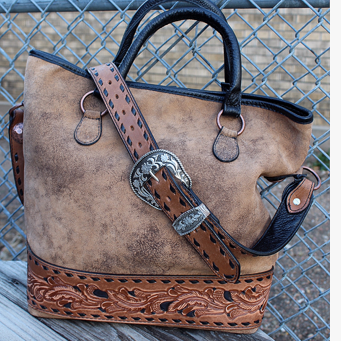 Messenger Tote from Double J Saddlery - 224374659828