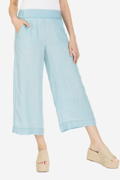 Chambray Gaucho Pant from Tribal