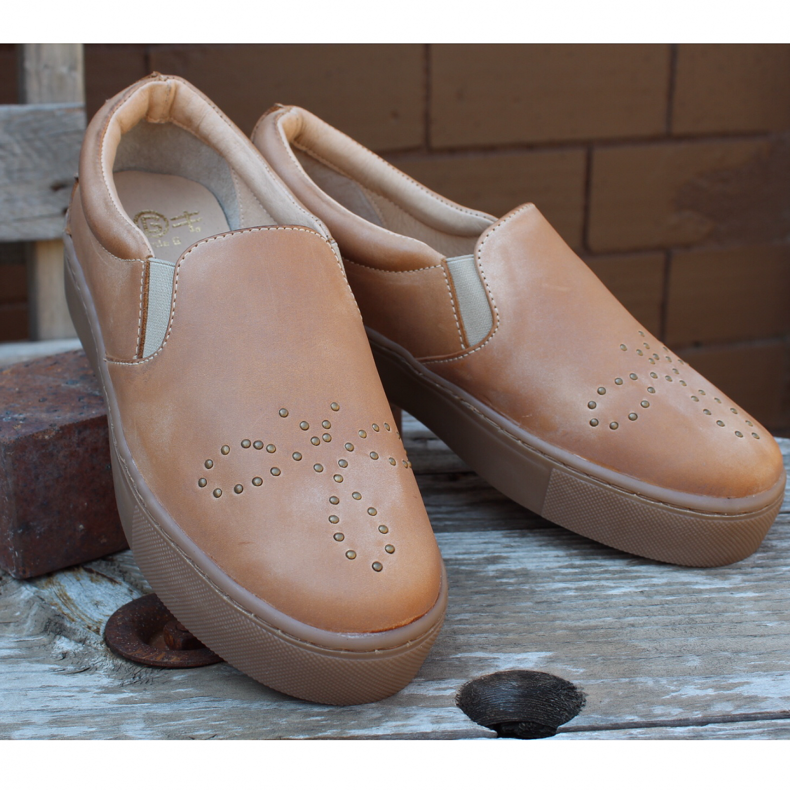 Leather Slip On with Stud Details from Corral