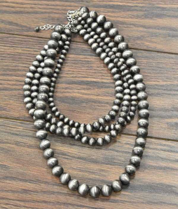 4 Strand Navajo Pearl Necklace