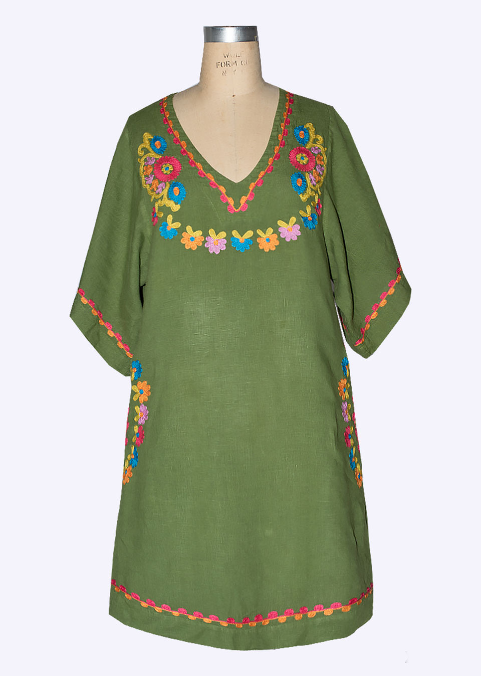Crewel Embroidered Dress from Uncle Frank