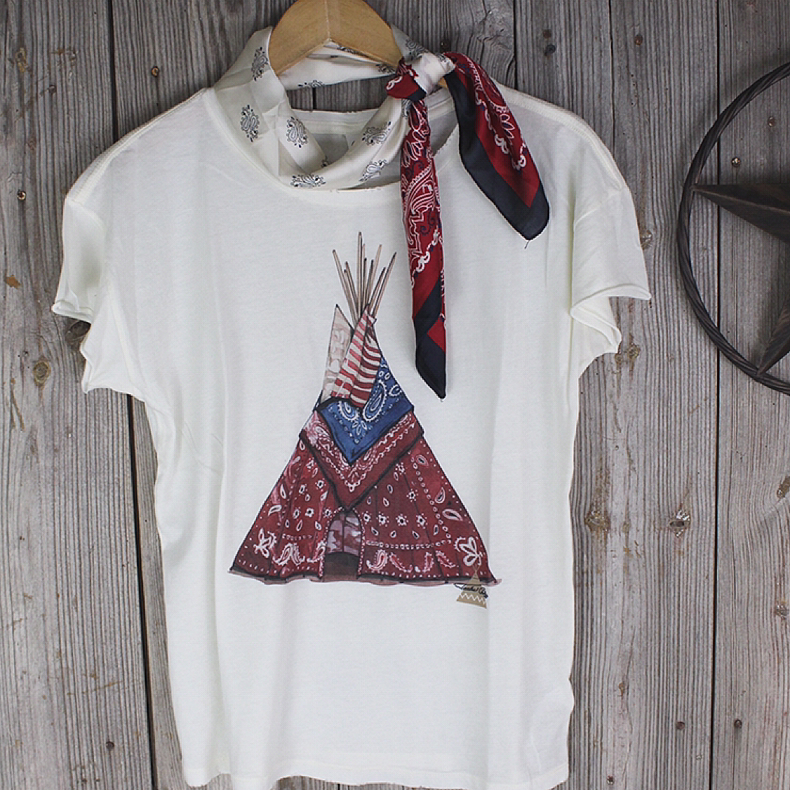 Bandana TeePee T-Shirt from Tasha Polizzi
