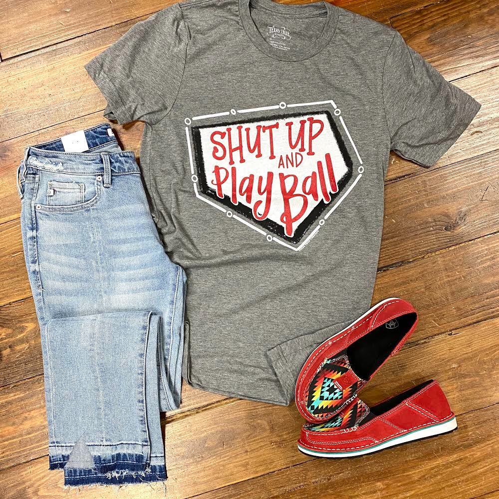 Shut up and Play Ball Graphic Tee
