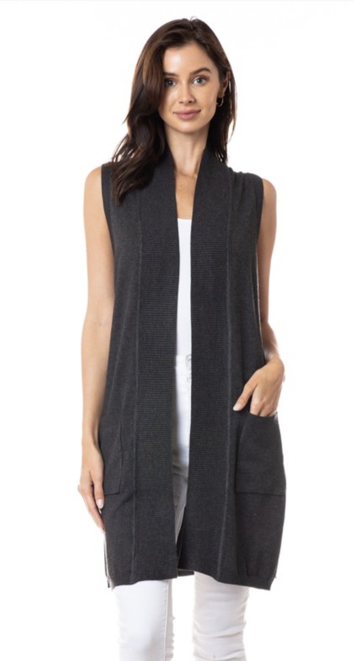 Classic Sweater Vest with Pockets