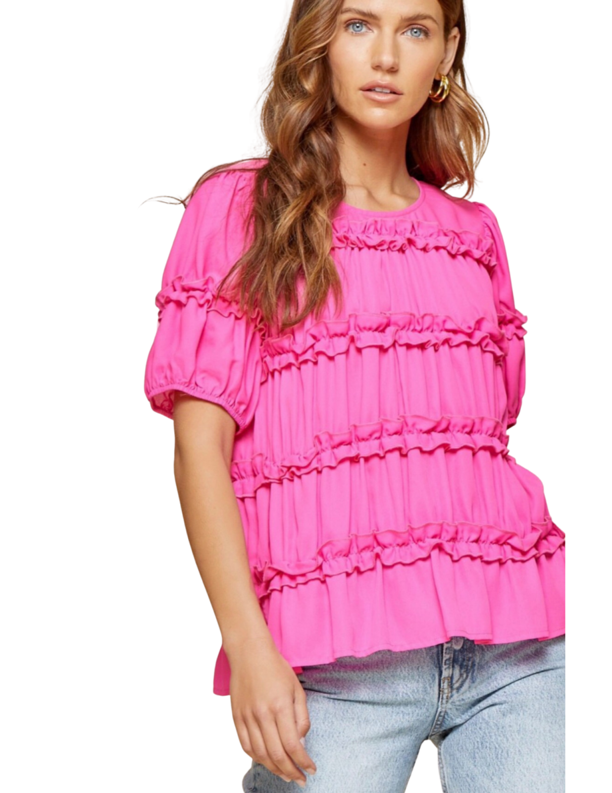 Ruffle Layers Short Sleeve Top
