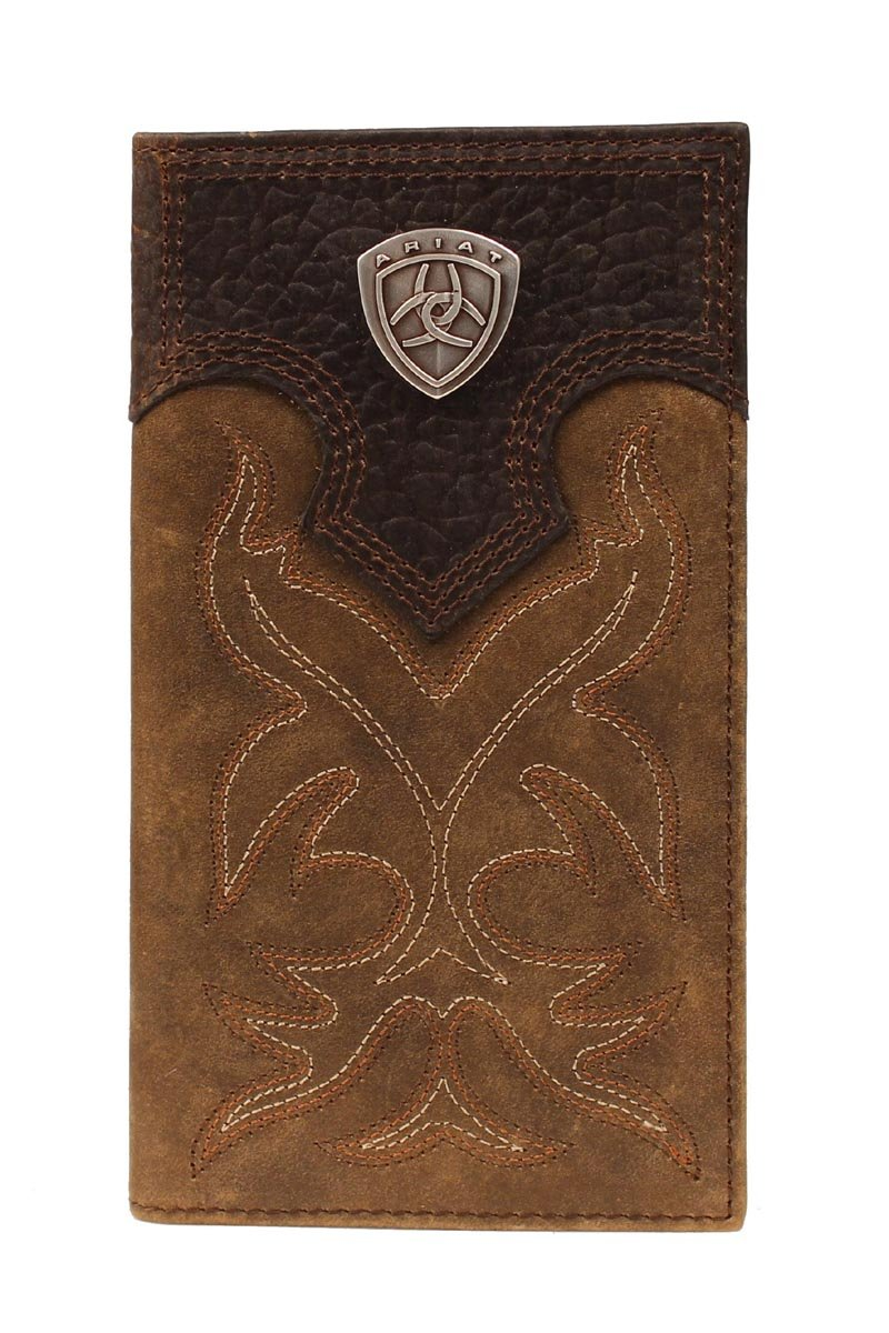 Stitched Distressed Leather Rodeo Wallet from Ariat