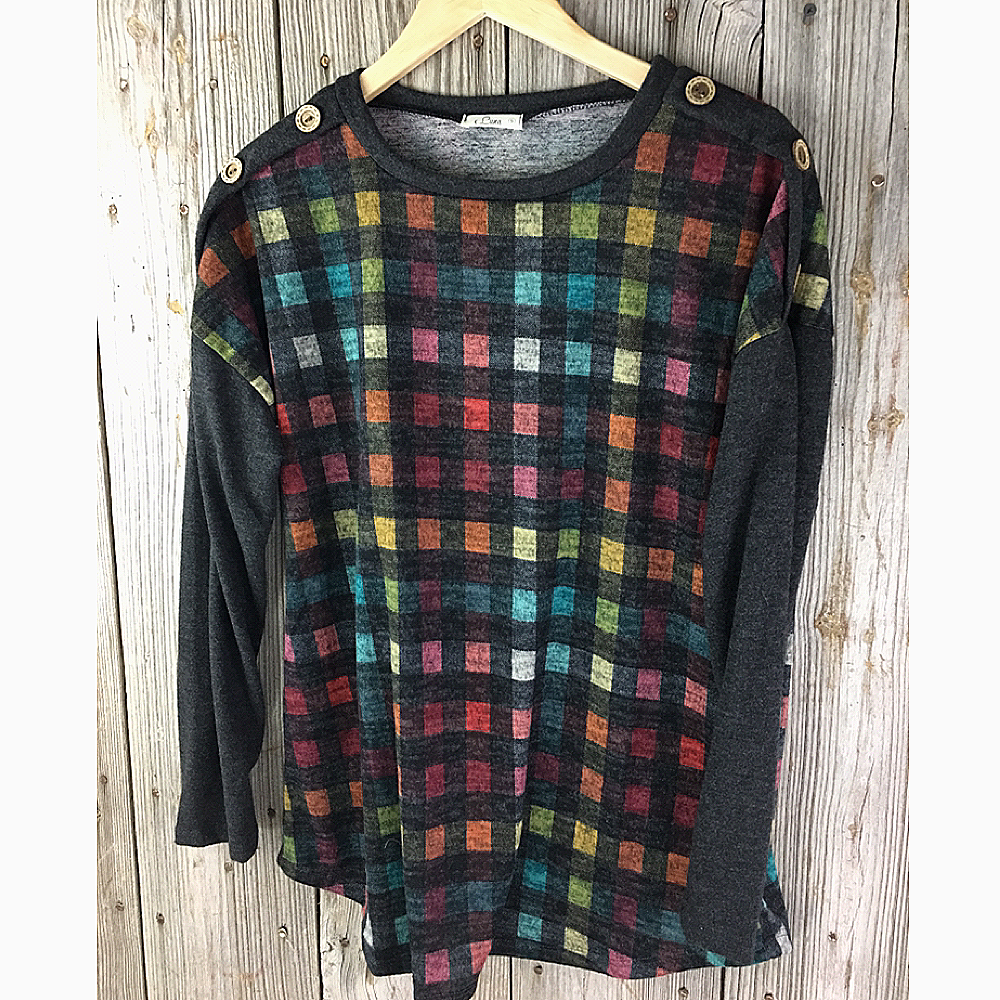 Ladies Two Toned Knit Top