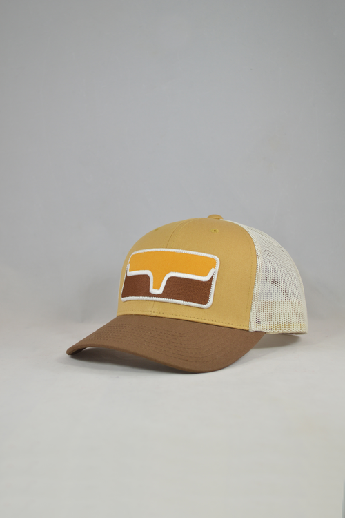 Blocked Patch Trucker Ball Cap from Kimes