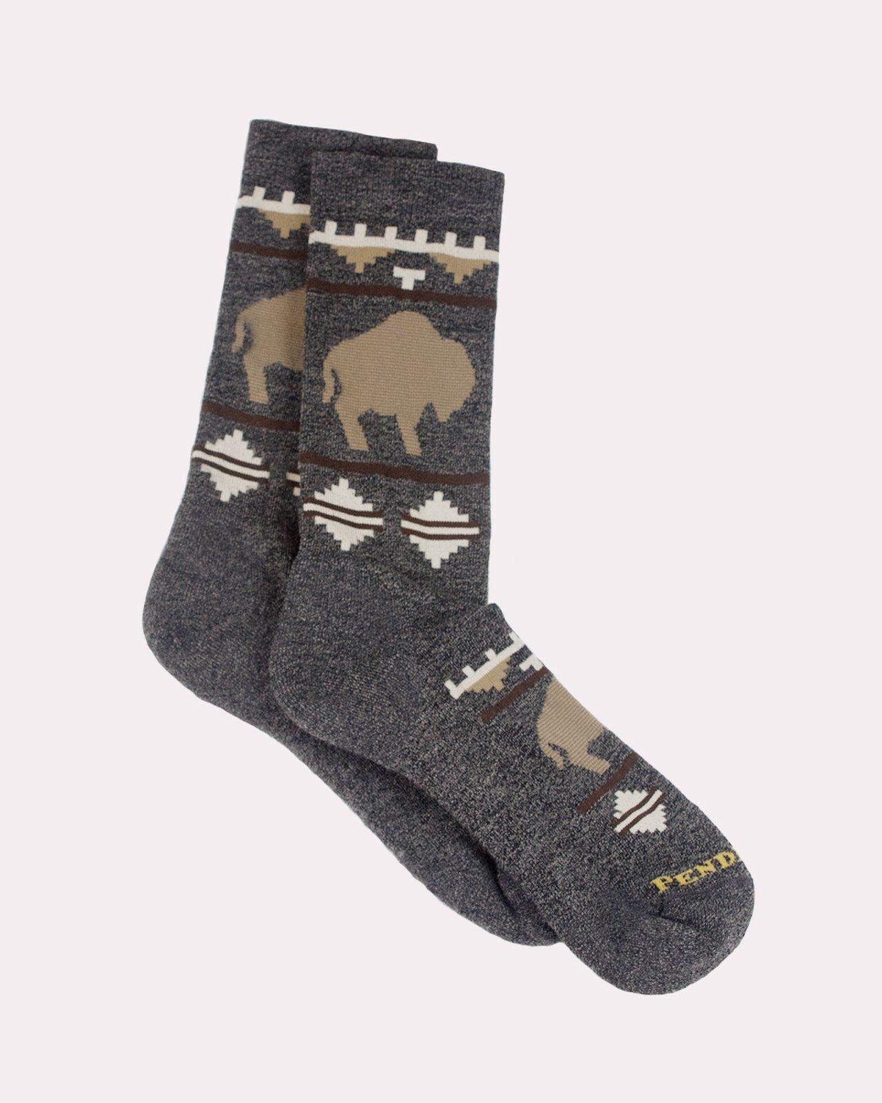 Roaming Bison Camp Sock from Pendleton