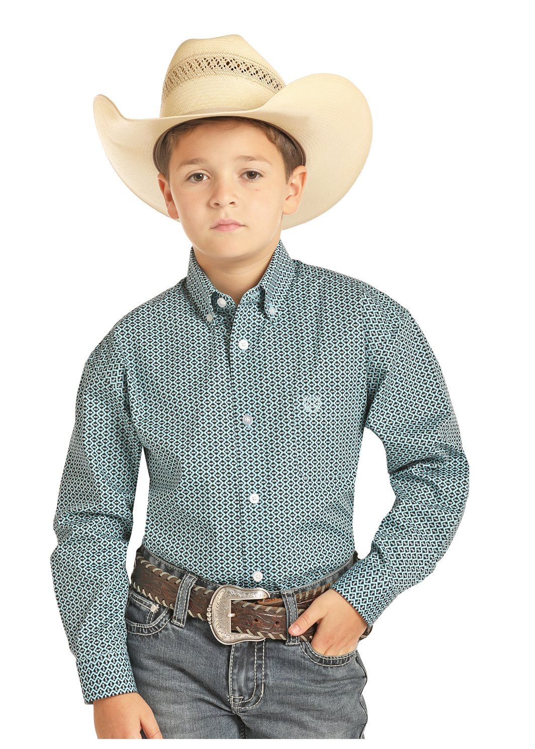 Boys Long Sleeve Woven from Panhandle