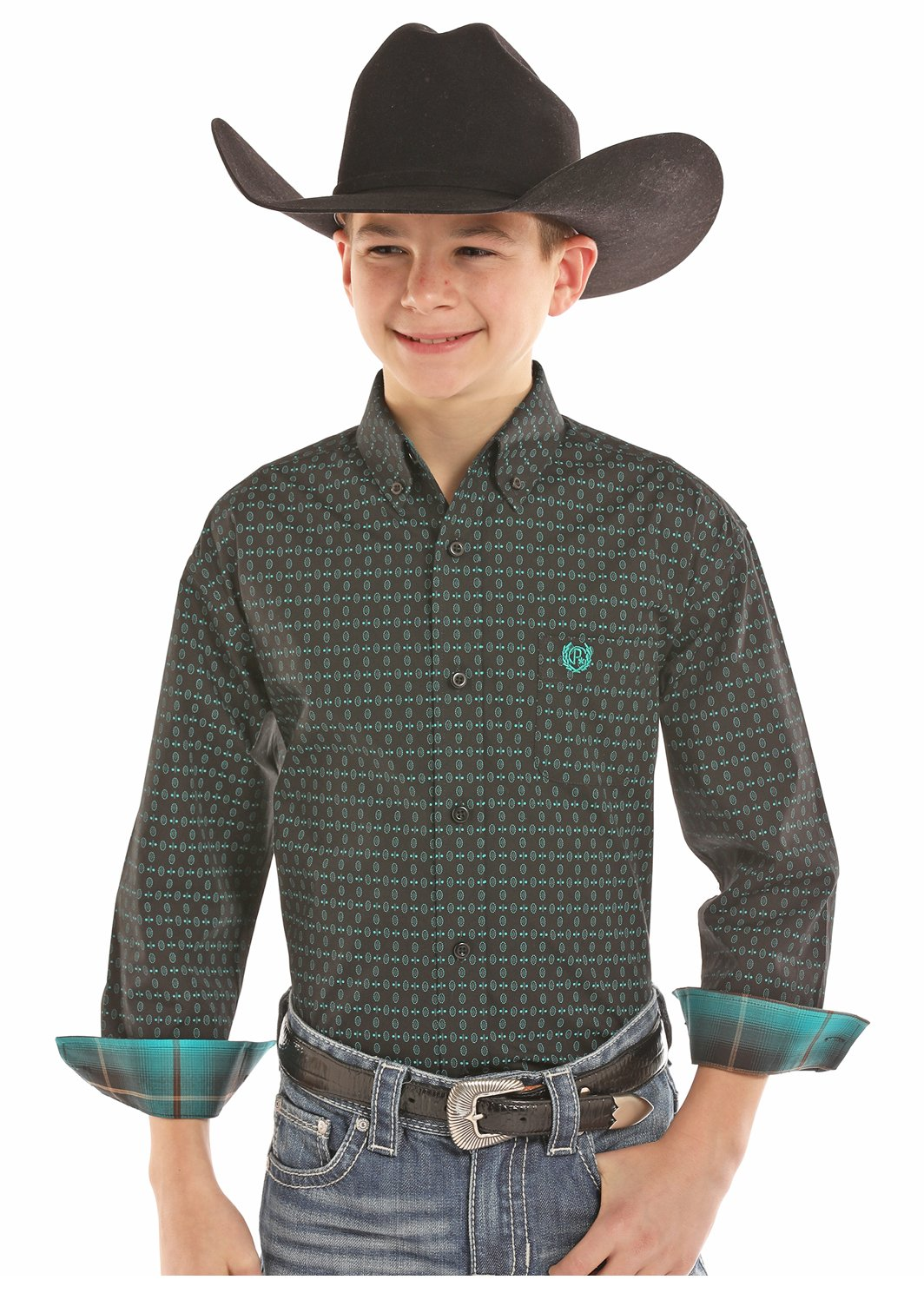 Boy's Long Sleeve Printed Woven from Panhandle Siim