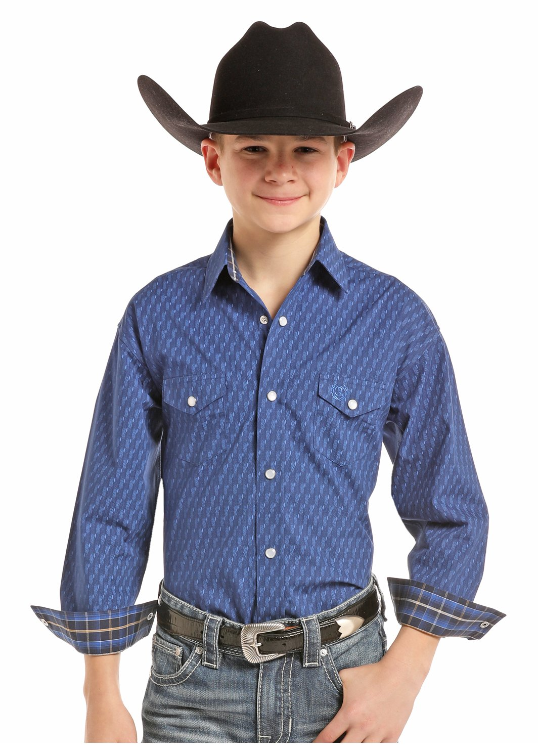 Boy's Long Sleeve Pearl Snap Woven from Panhandle Slim