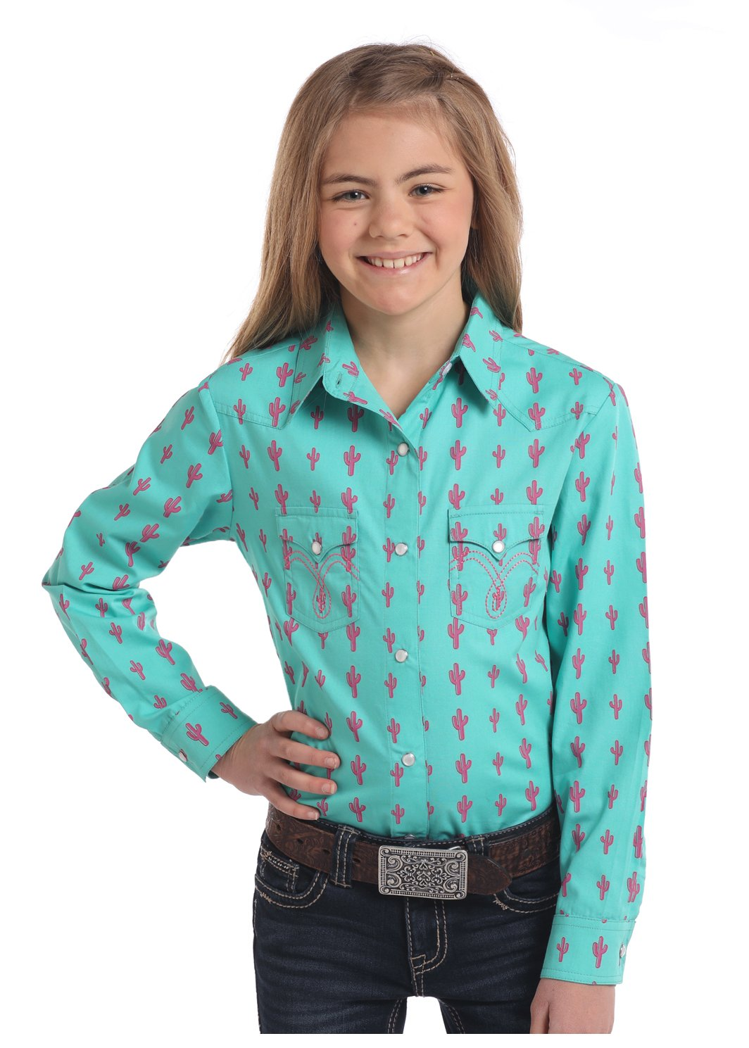 Long Sleeve Cactus Printed Woven from Panhandle Slim