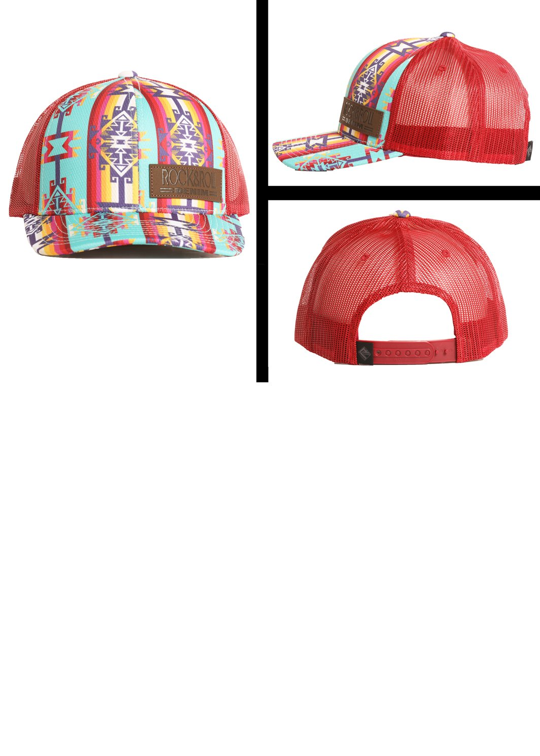Aztec Front Rock & Roll Ball Cap