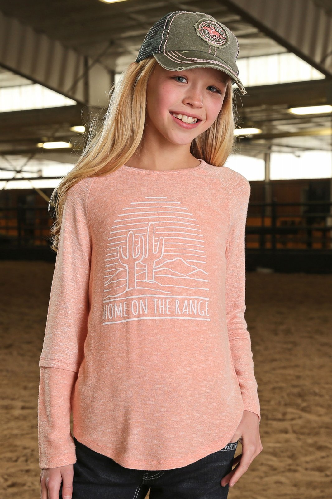 Girls L/S Home on the Range Shirt