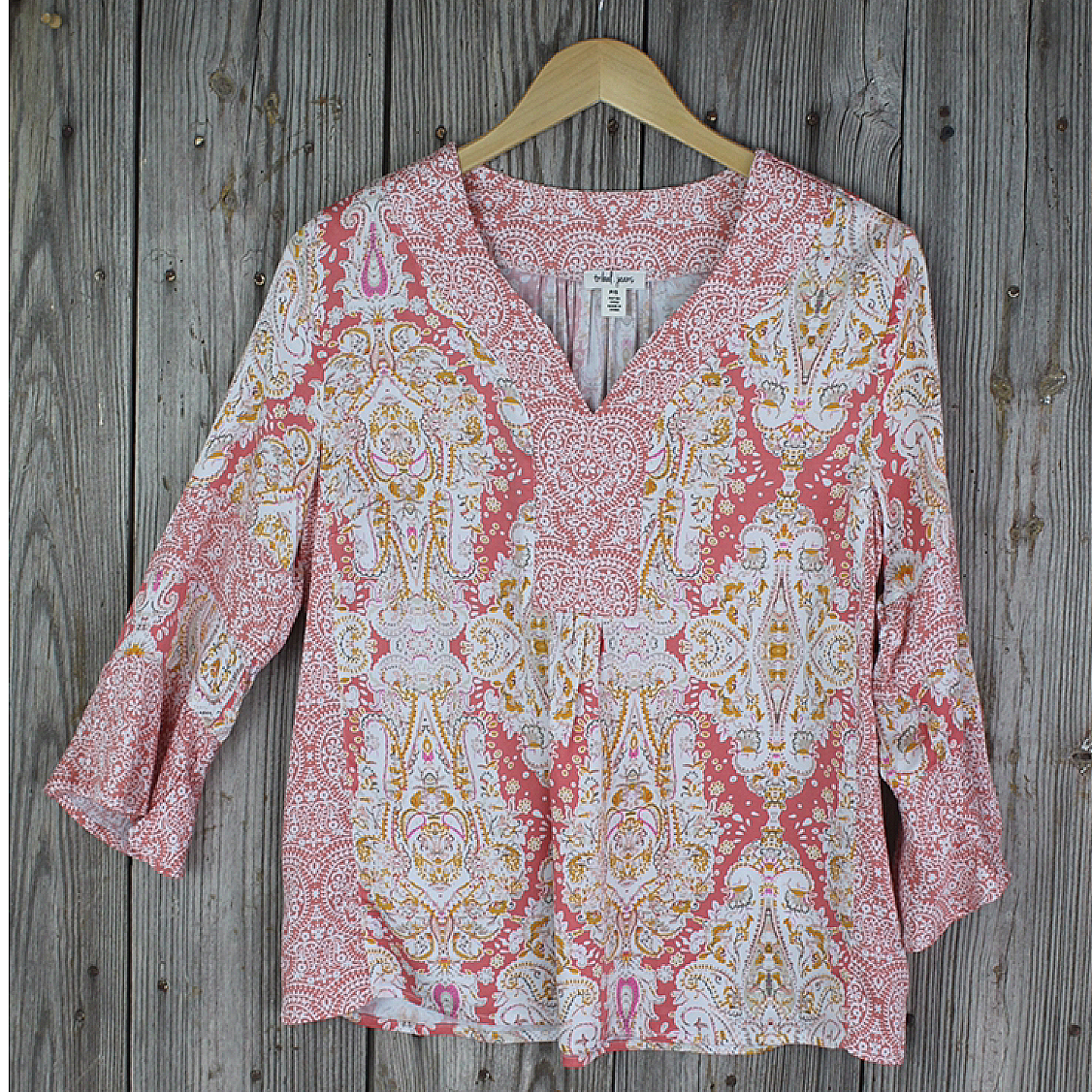 Ladies 3/4 Sleeve Top with Ruffle Sleeve from Tribal