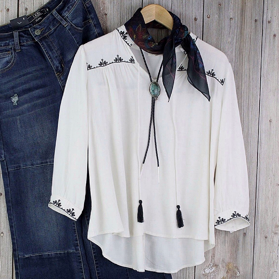 Peasant Style Blouse from Mystree