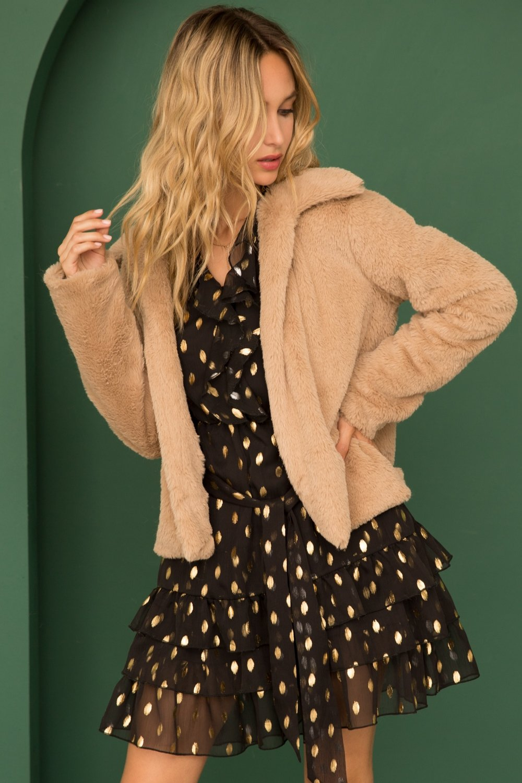 Fur Leopard Lined Jacket from Hem & Thread