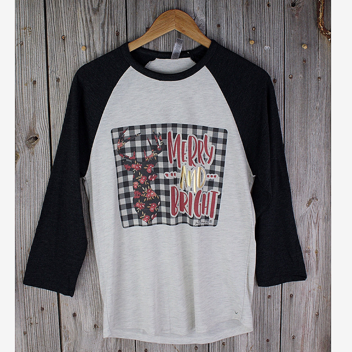 Merry & Bright Baseball Tee