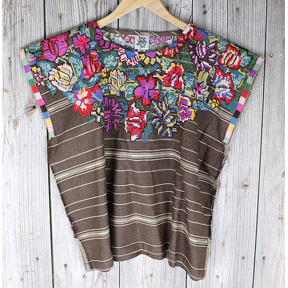 Embroidered Smock Style Top from Ivy Jane