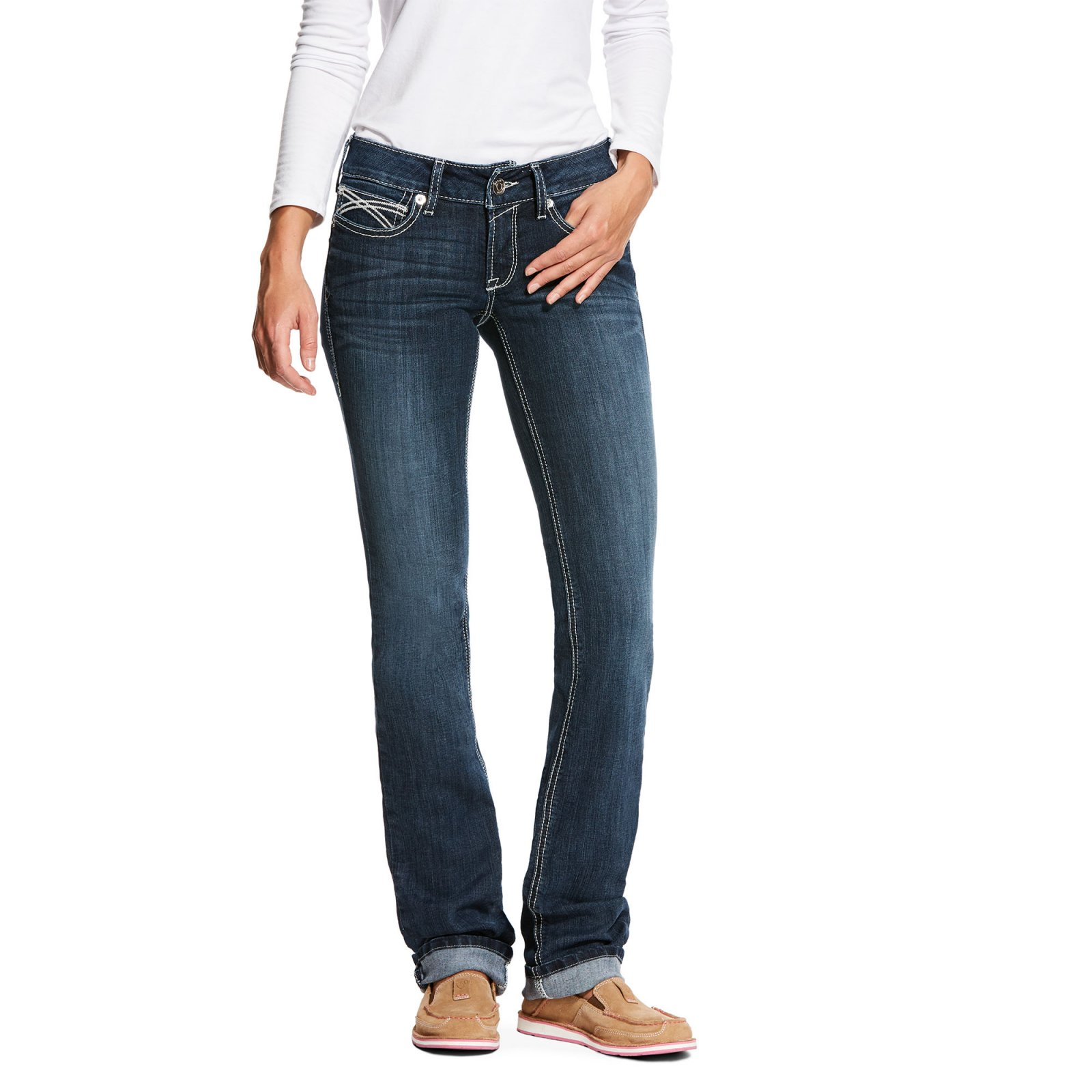 REAL Low Rise Kylie Straight Jean from Ariat