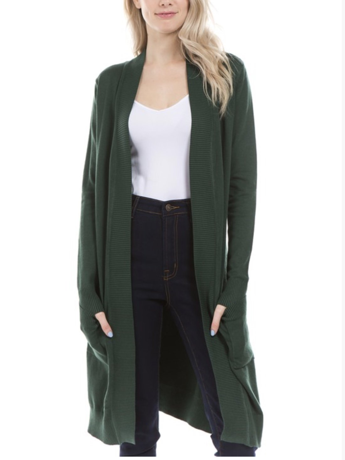 Classic Long Cardigan Sweater with Pockets