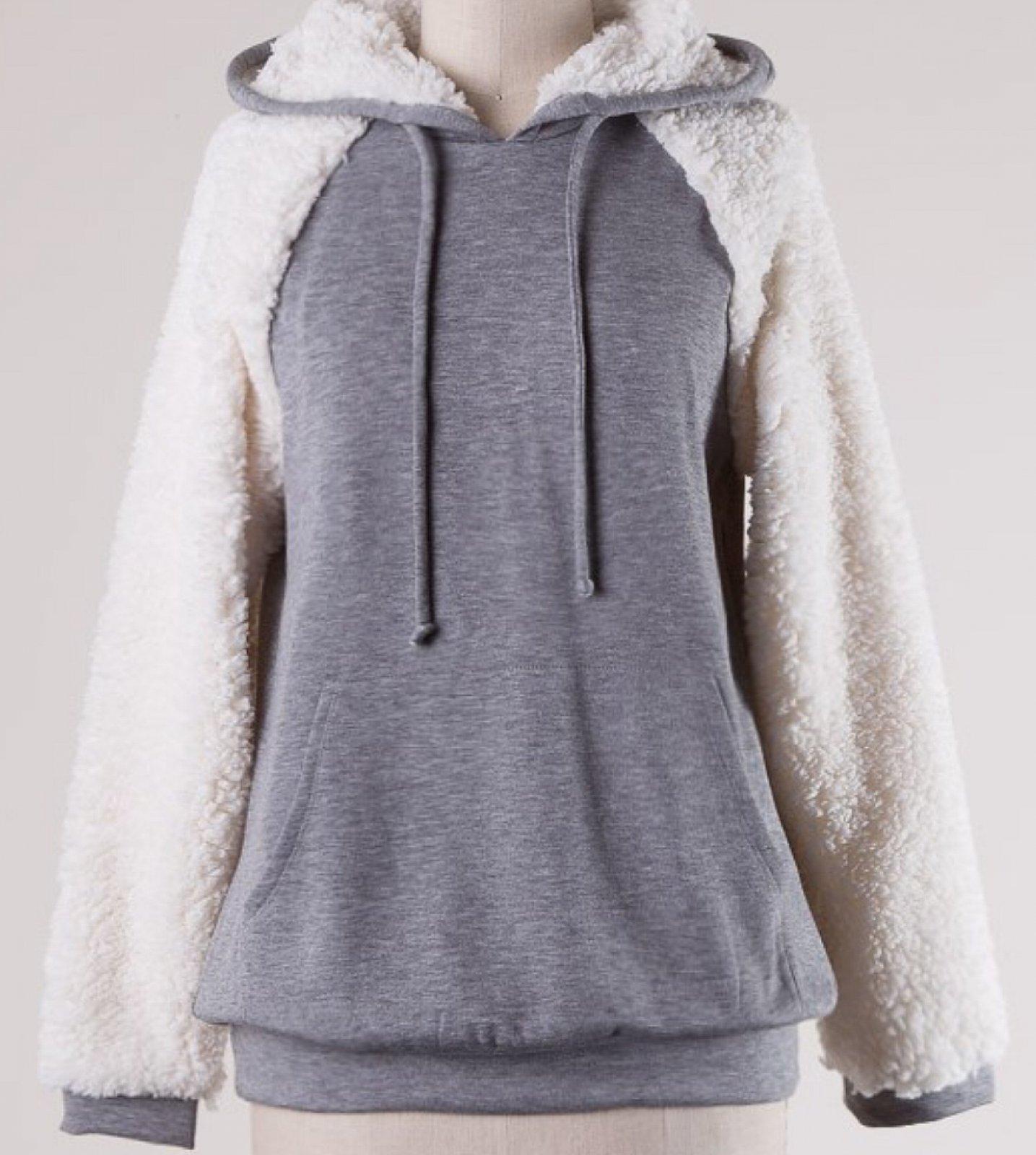 Ladies Long Sleeve Hooded Pullover