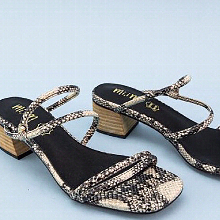 Ladies Strappy Snakeskin Sandal