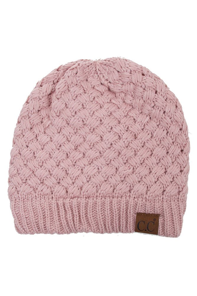 Knitted Basket Weaved Beanie