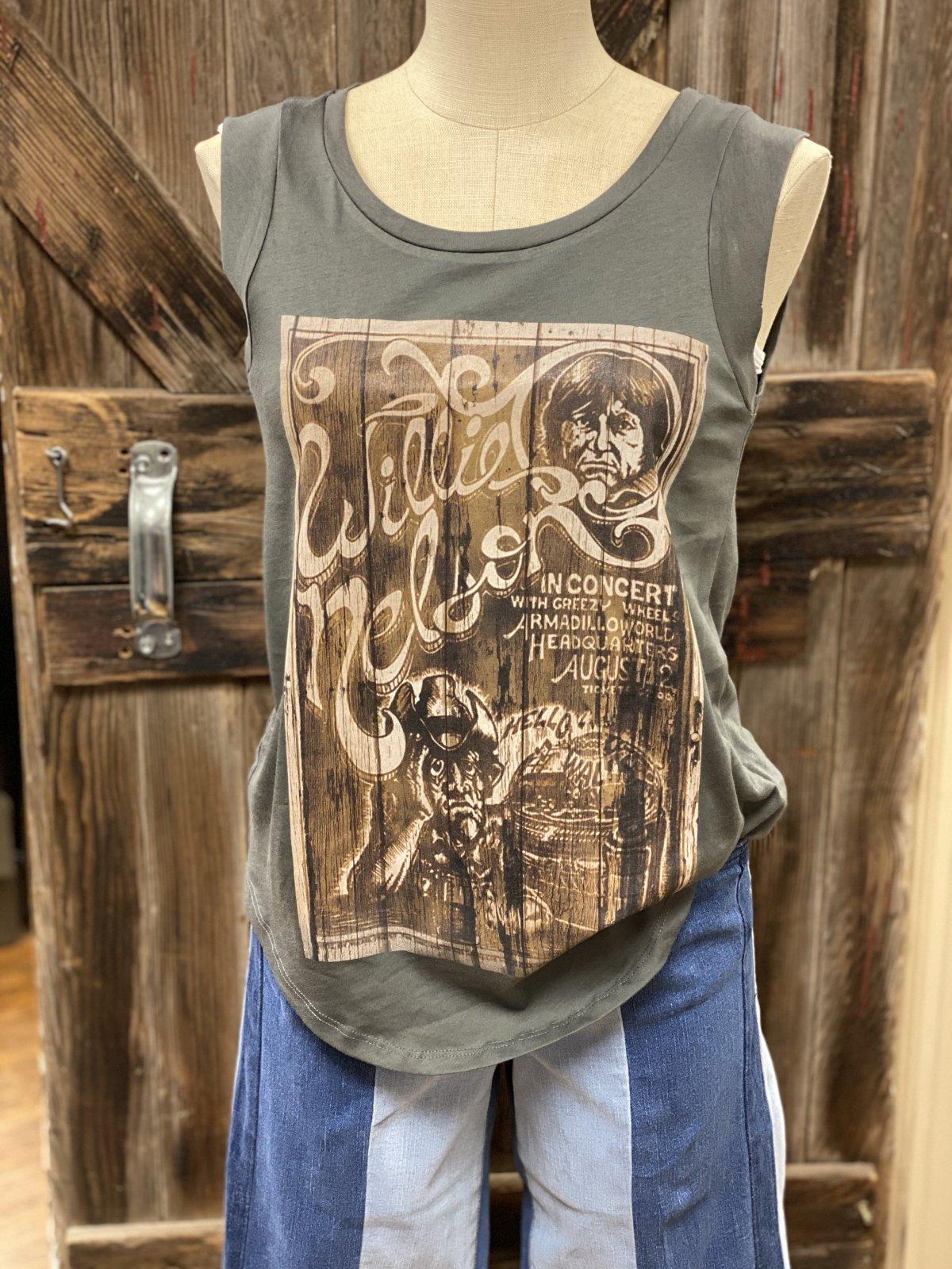 Willie Nelson Poster Graphic Tank