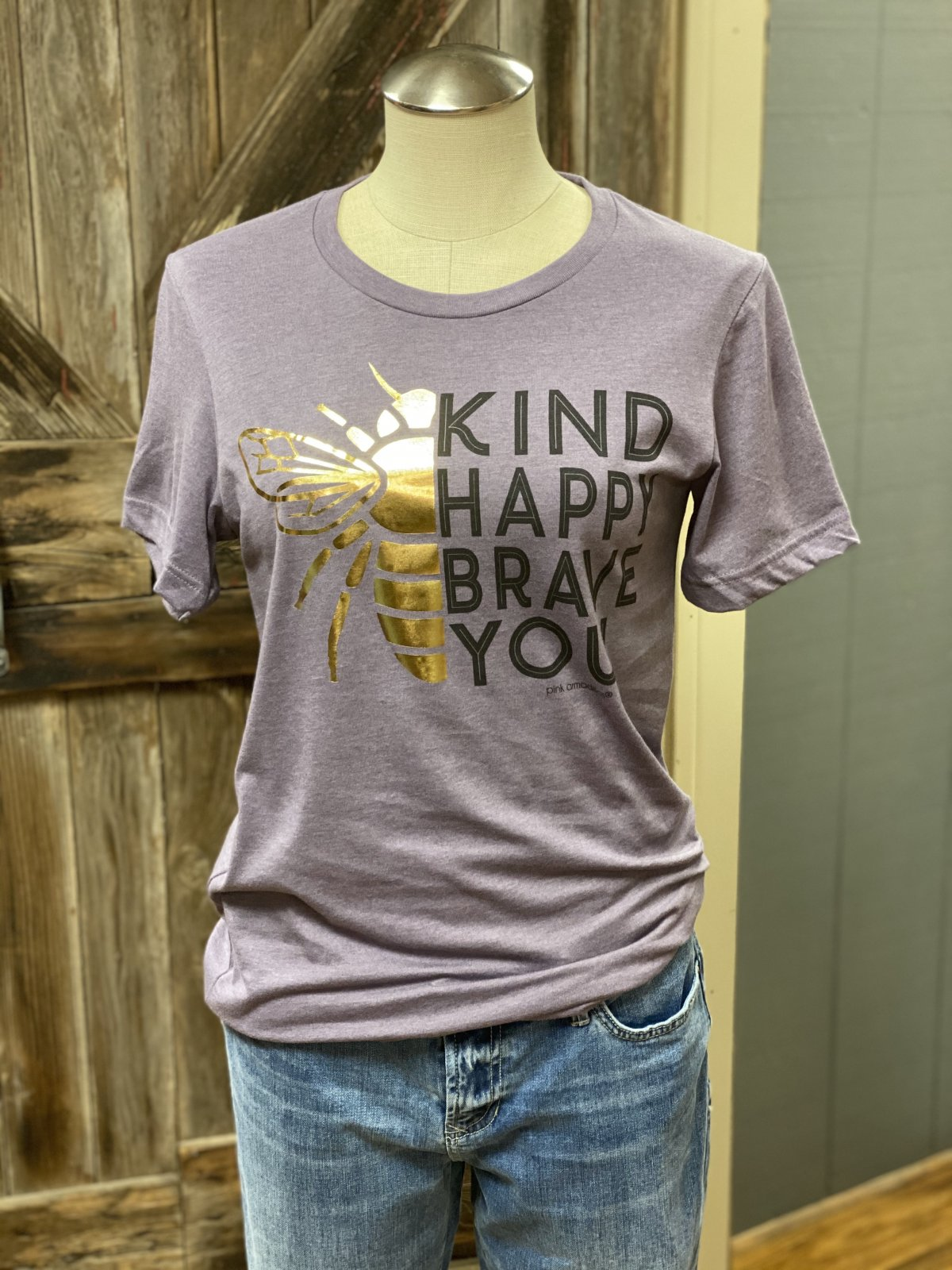 Bee Kind, Happy, Brave, You Graphic Tee