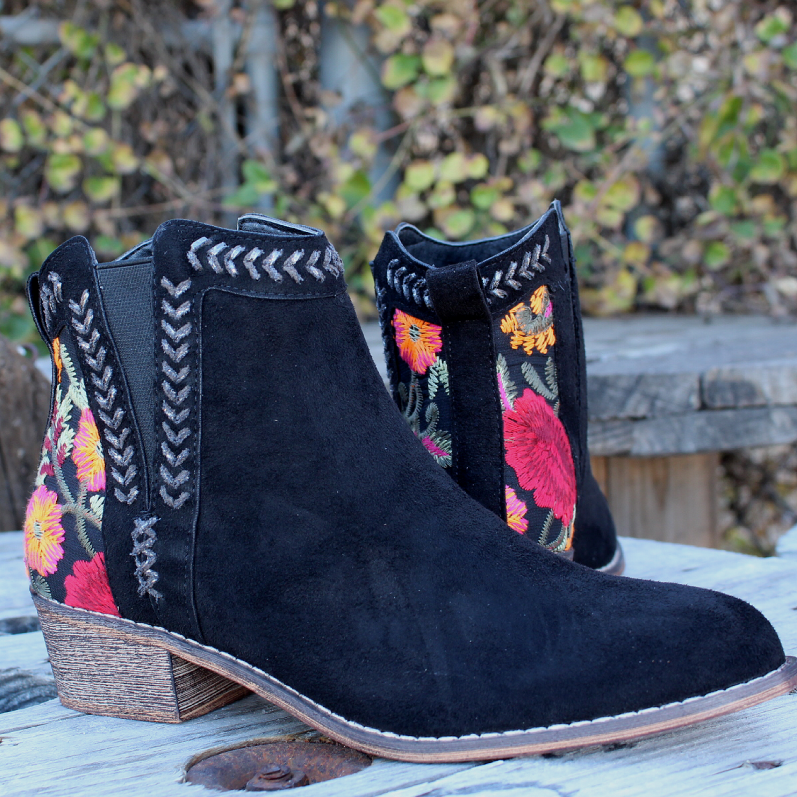 Topa Embroidered Bootie