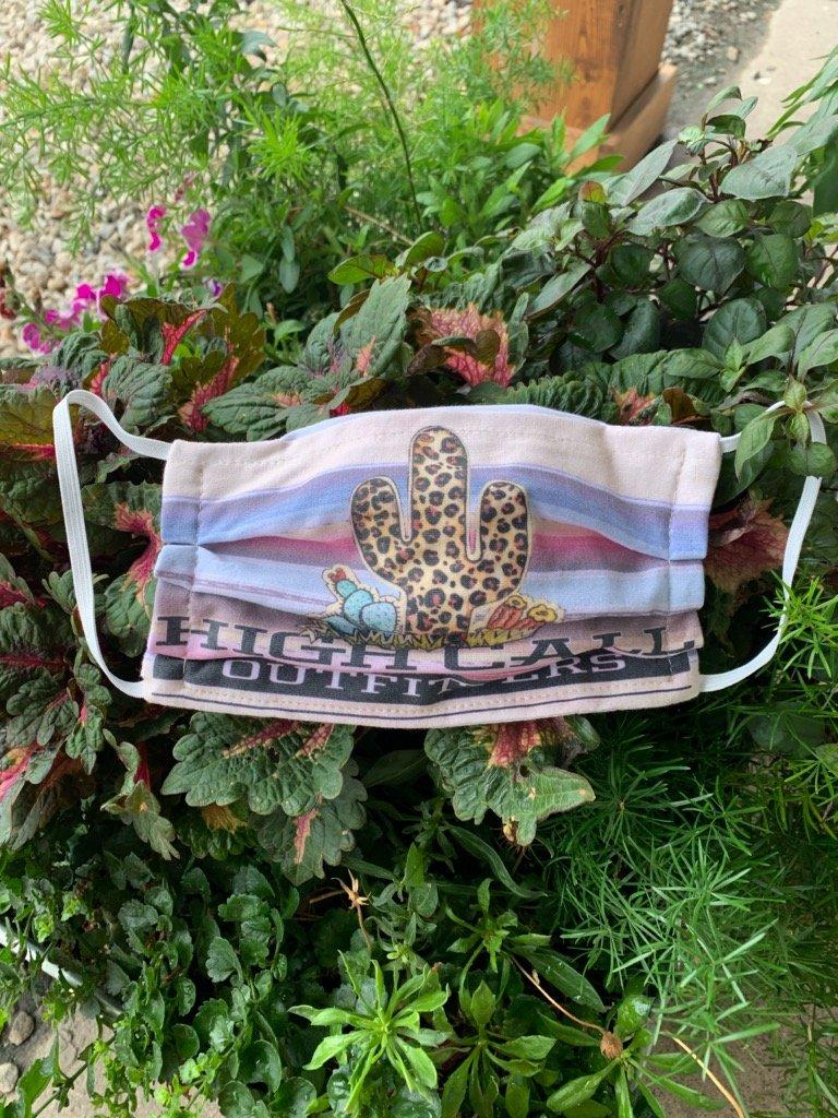 High Call Leopard Saguaro Cactus Facemask