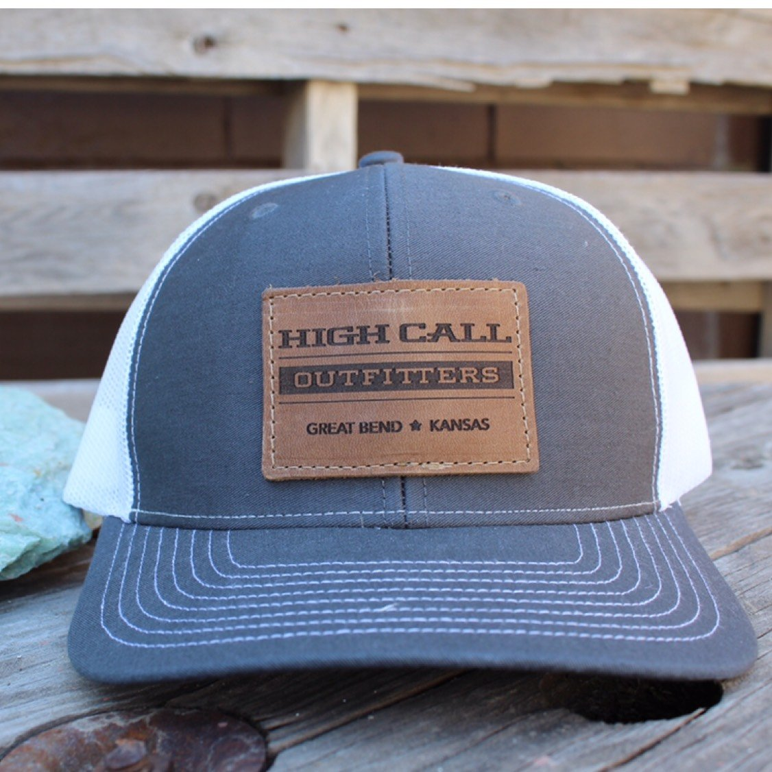 High Call Leather Patch Ball Cap