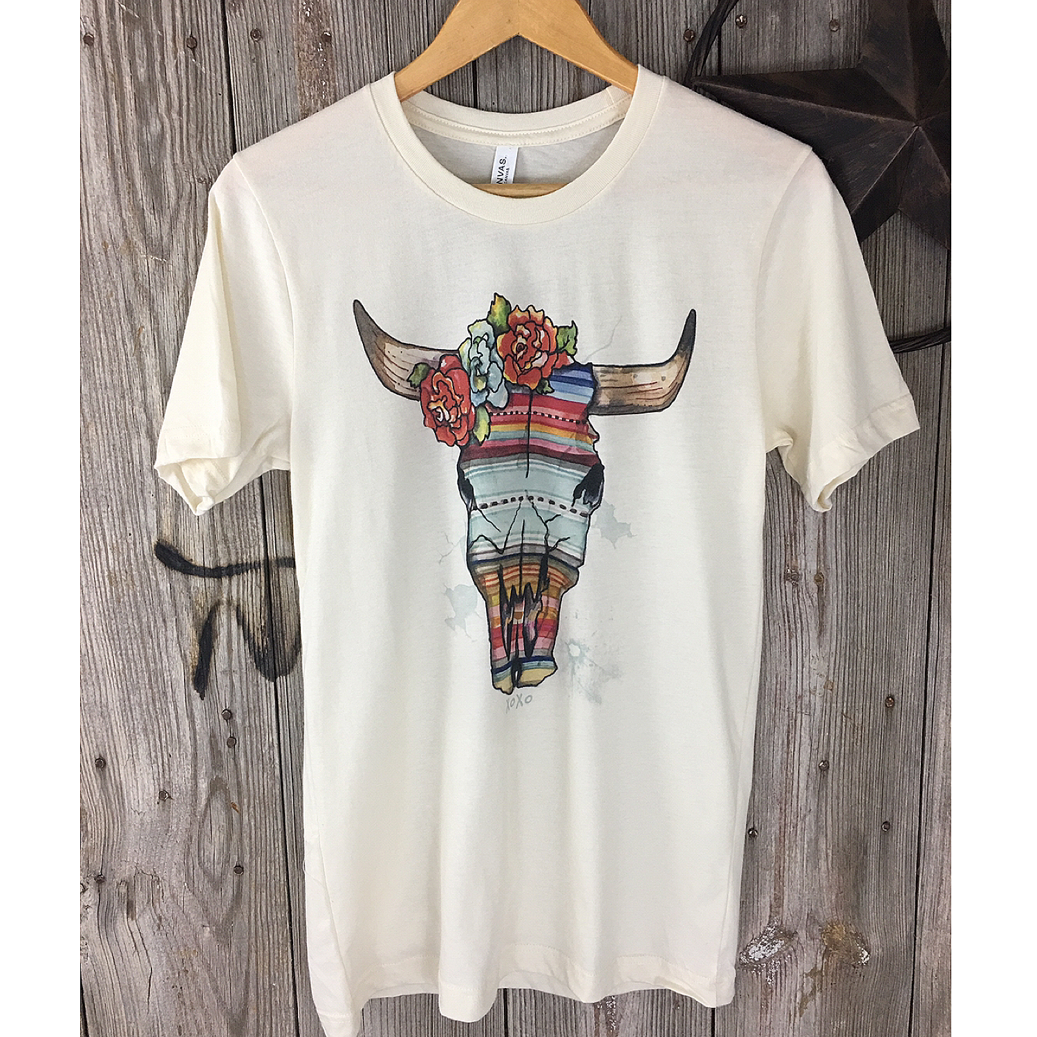 Serape Cowskull Tee from XOXO Art