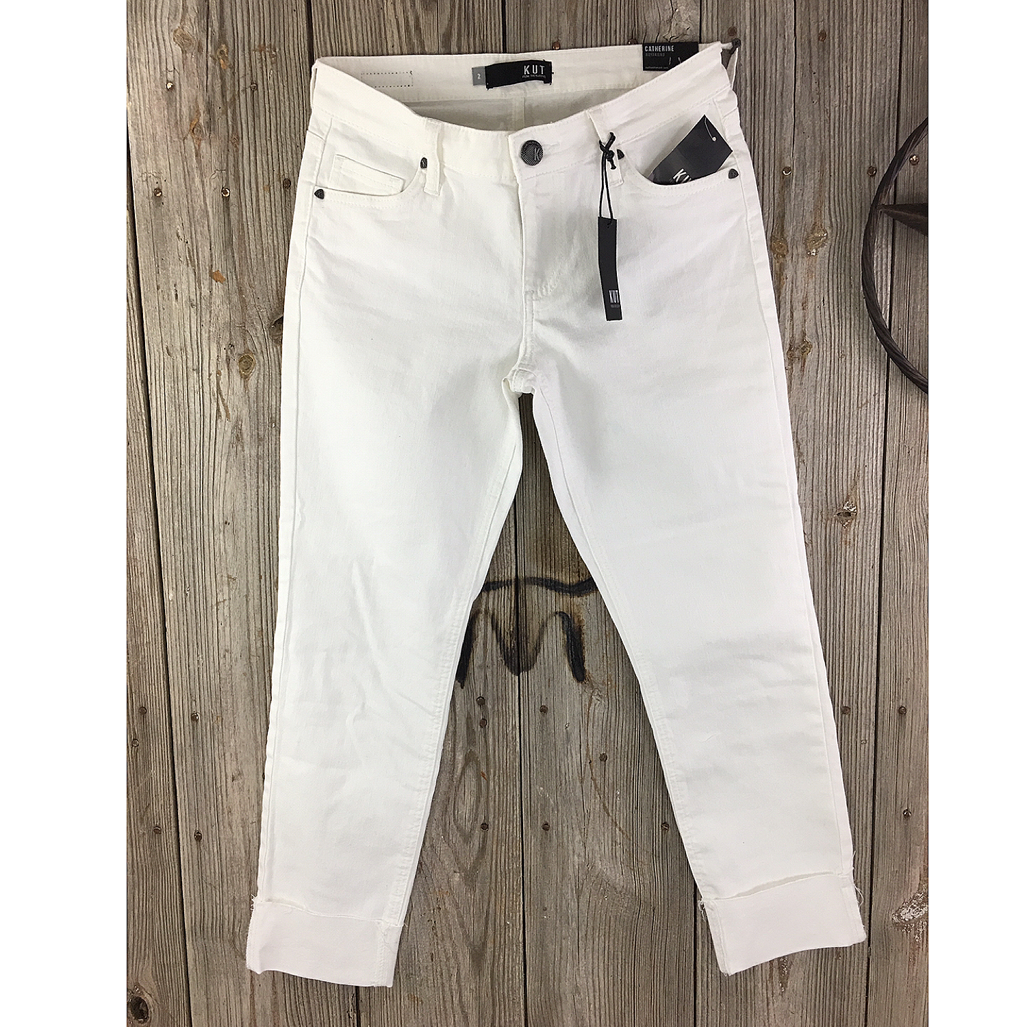 Catherine Boyfriend White Crop Jean
