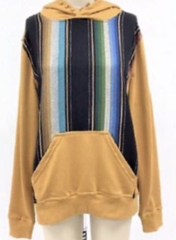 Ladies Serape Hoodie 4 Colors offered