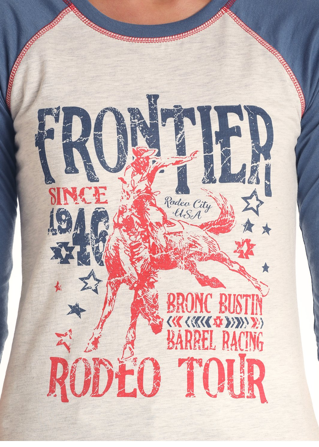 Frontier Days Baseball Style Tee from Rock&Roll Cowgirl