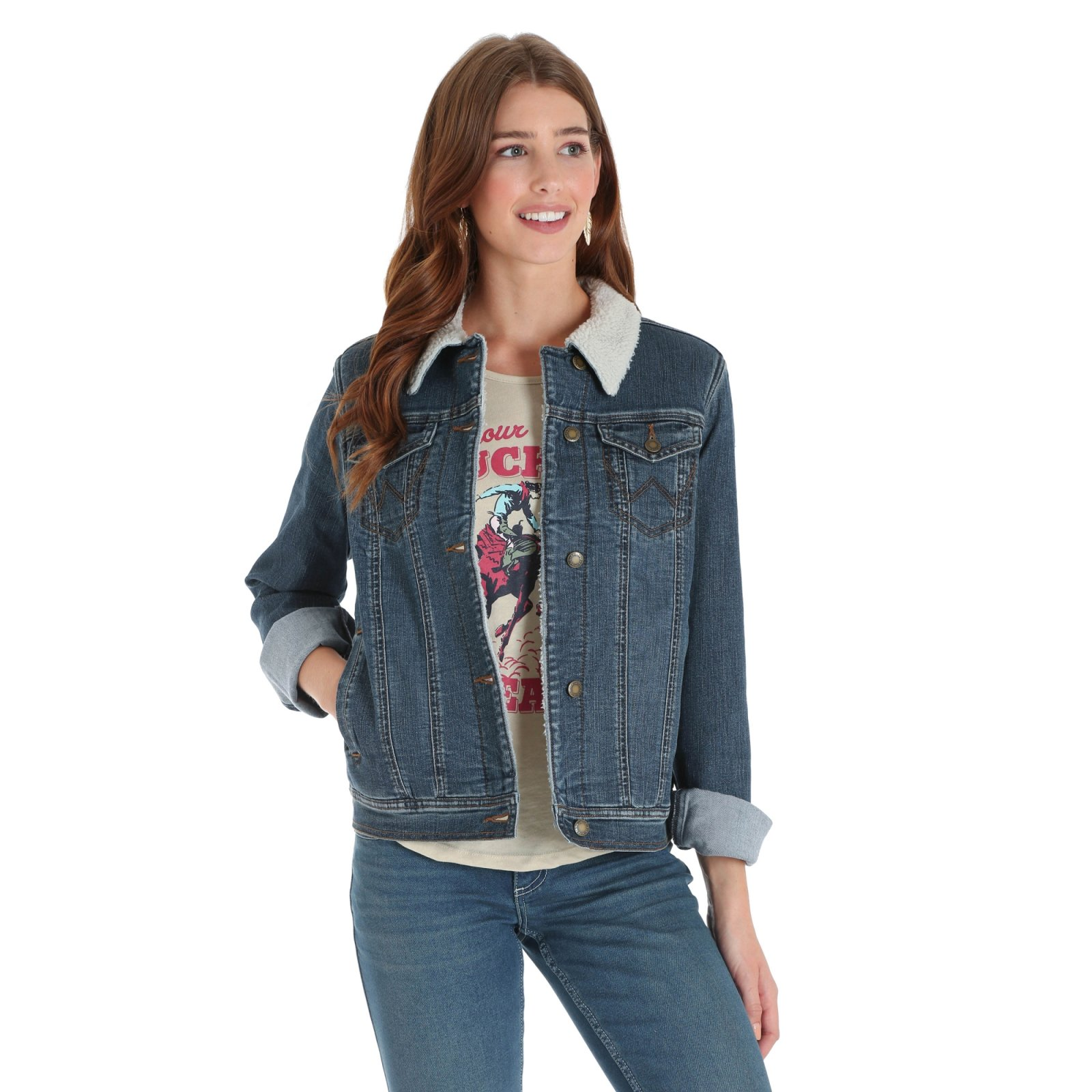 Sherpa Lined Denim Jacket from Wrangler